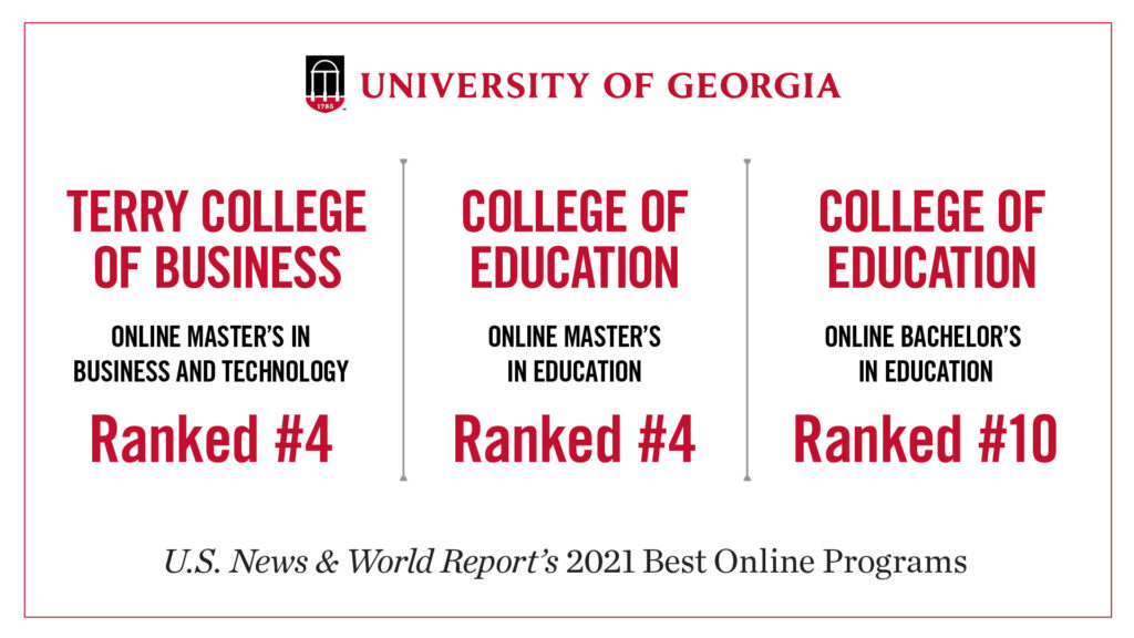 UGA online USNWR rankings