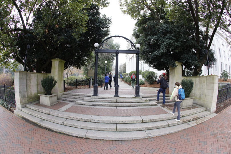 The Arch looking toward campus