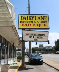 Dairylane Cafe sign.