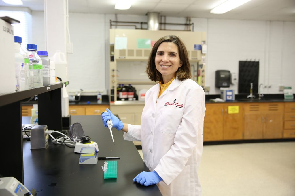 Emily Noble in her lab.