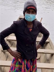 A research assistant in Sierra Leone.
