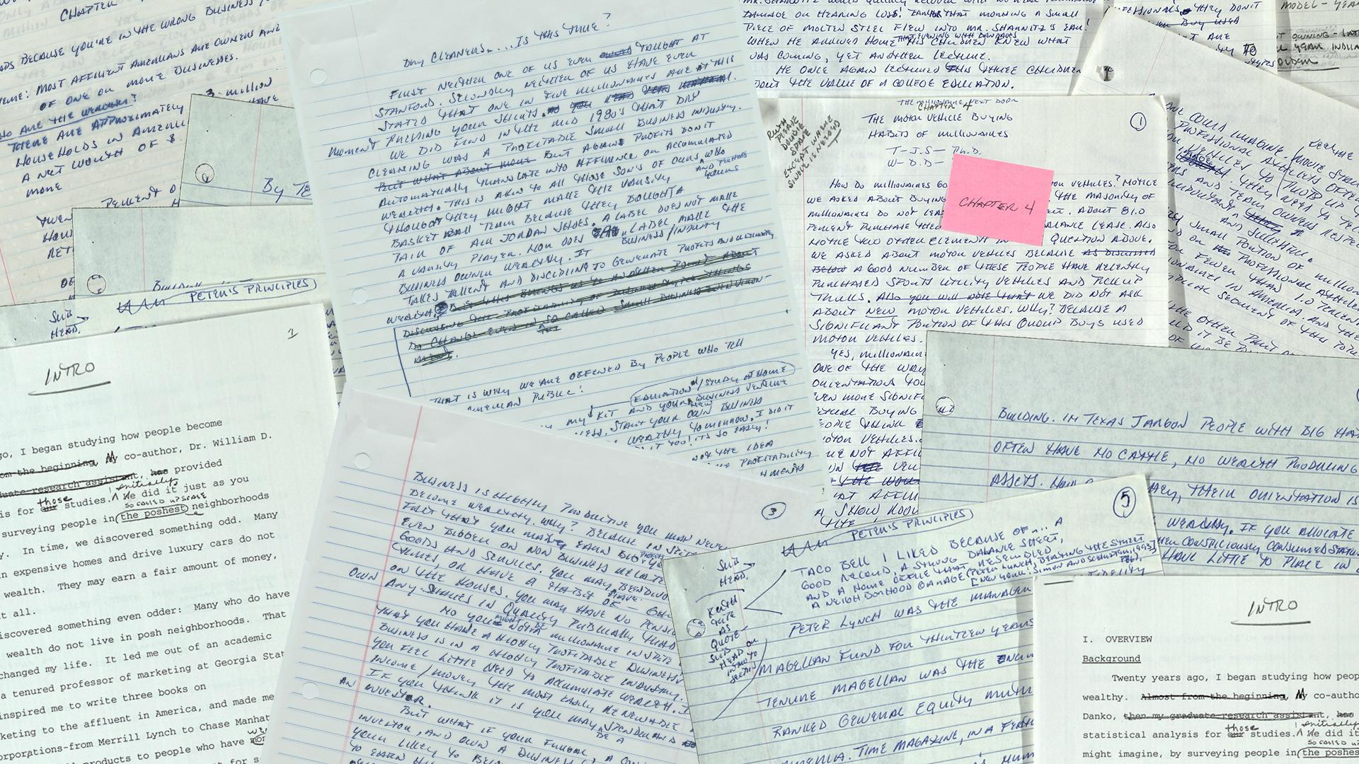 Handwritten book manuscripts