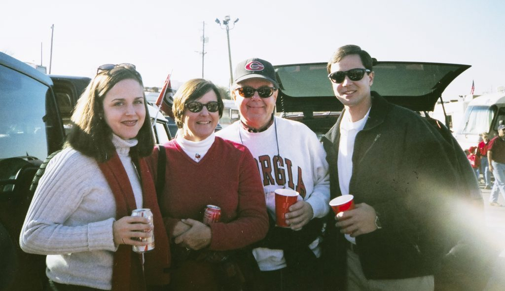 Thomas Stanley tailgating at UGA with his family.
