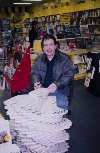 Thomas Stanley signing copies of his book.