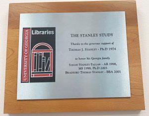 Stanley study plaque.