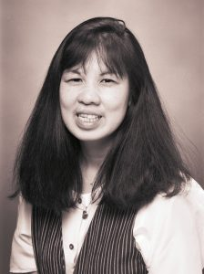 Black and white portrait of Jean Chin