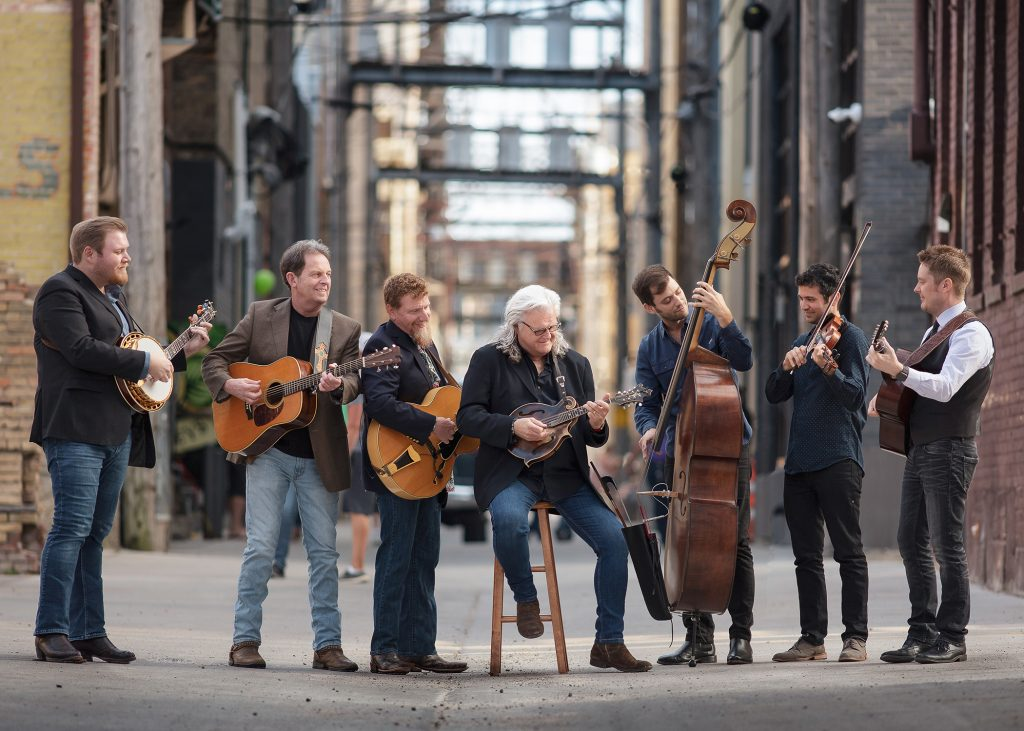 Ricky Skaggs poses with his band.