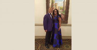 Jolanda Walker poses for a photo with her husband Ronald Walker.