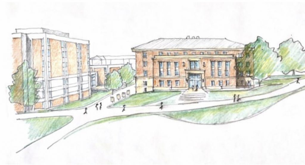 A render of the Poultry Science Building