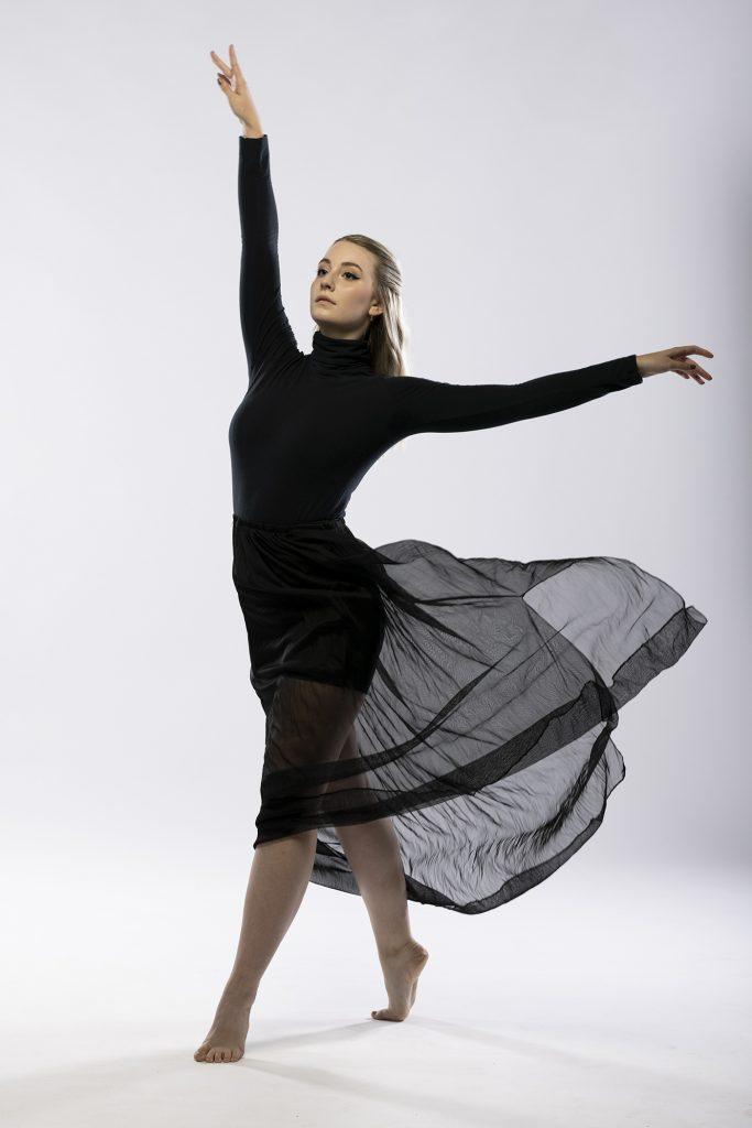 Tori Watson in a dance pose.
