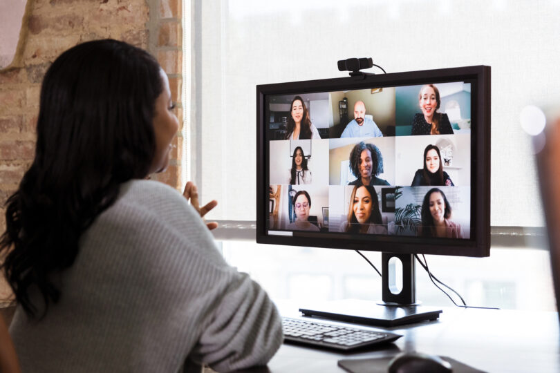 Screen showing a zoom meeting