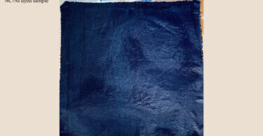 Cotton fabric after indigo dye is applied
